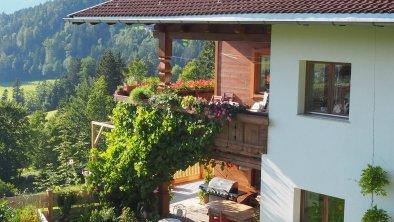 Blick vom Garten, FeWo im Obergeschoß