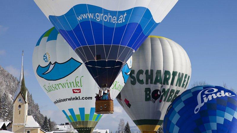 Beim Alpin Ballooning im Kaiserwinkl werden mehr als 50 Ballons aus mehreren Ländern am Himmel zu sehen sein, © Bernhard Bergmann