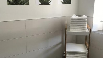 Badezimmer in der Ferienwohnung Peotta Volders