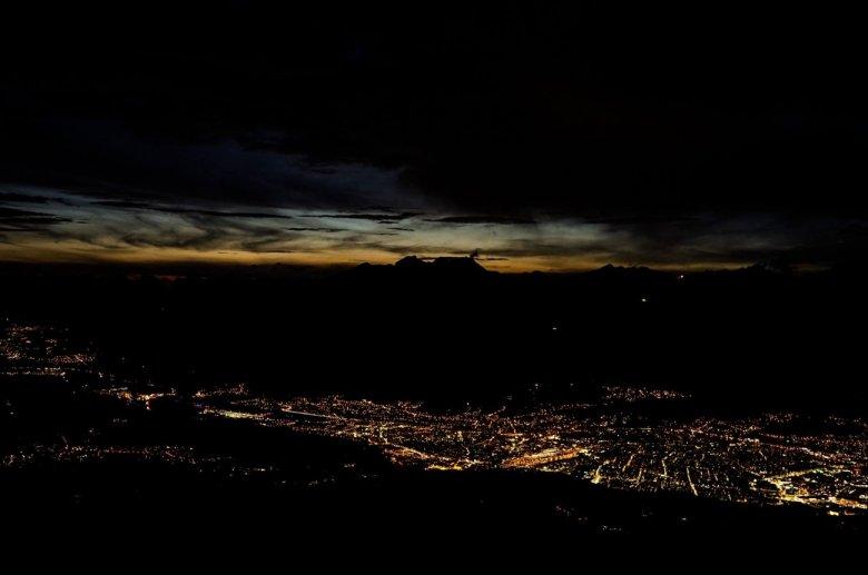 Fabians Ausblick über Innsbruck und das Inntal, fotografiert beim Patscherkofel-Schutzhaus.