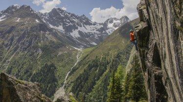 Klettergarten Hexenkessel in Plangeross, © TVB Pitztal