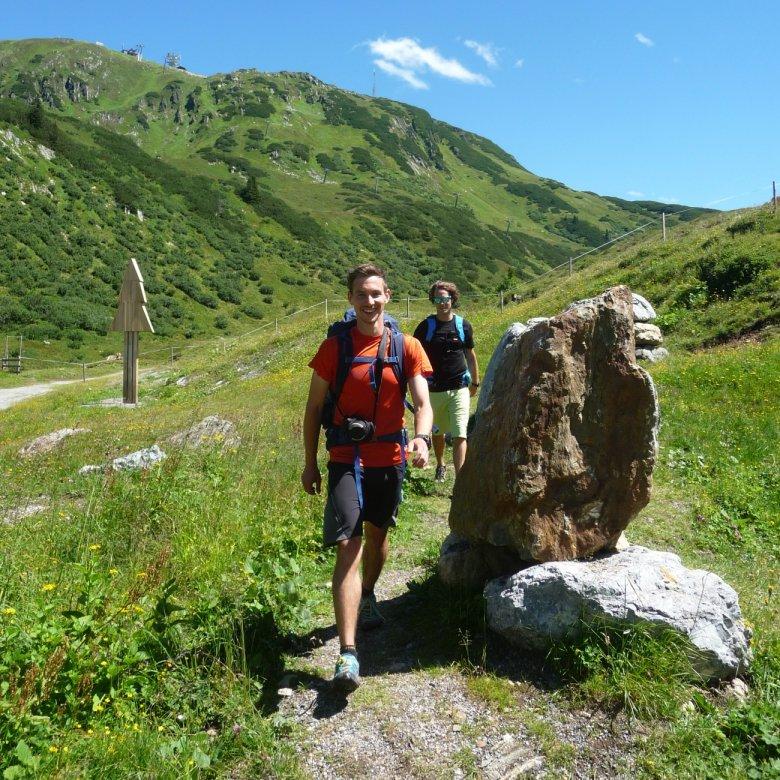 Der Weg ist das Ziel: Fabians Ankunft in St.Christoph am Arlberg.