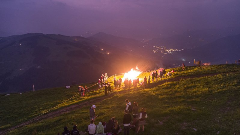 Bergfeuer auf der Hohen Salve, © Hannes Dabernig