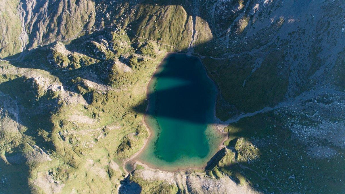 Der Steinsee aus der Luft