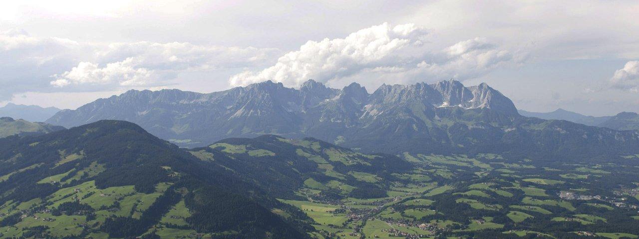 Fleckalm mit Blick auf das Kaisergebirge, © Tirol Werbung / Werlberger Michael