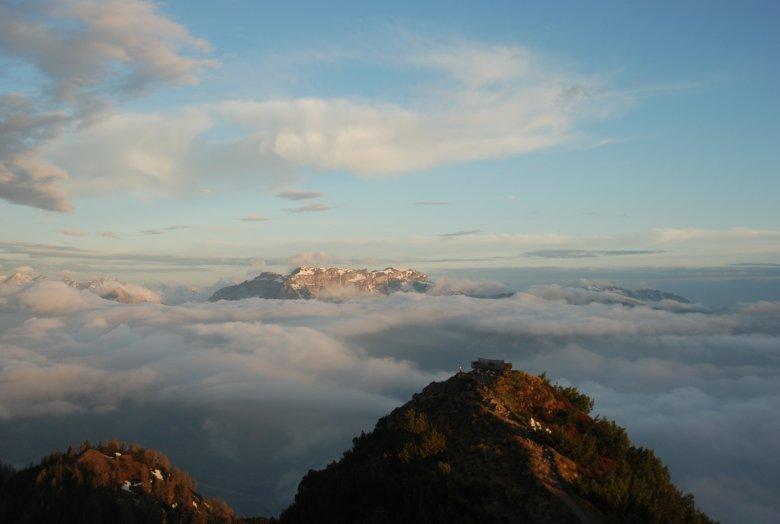 Die schönste Bank Tirols? Am Gratlspitz-Gipfel. , © Michael Walzer
