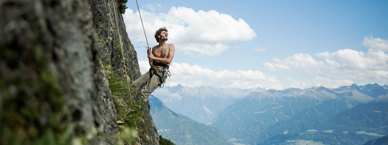 Klettern Muttekopfhütte, © Tirol Werbung/Peter Neusser