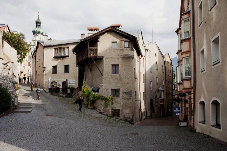 Gassen in der Altstadt von Hall in Tirol