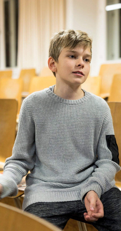Der elfjährige Tristan ist seit sechs Jahren bei den Wiltener Sängerknaben.