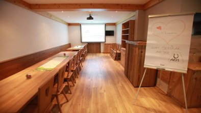 Unser Seminarraum für bis zu 45 Personen