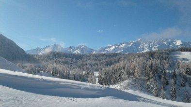 Winteraussicht vom Bio Berghof