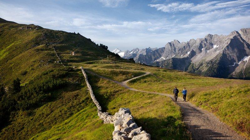Wandern am Genießerberg in Mayrhofen, © Mayrhofner Bergbahnen