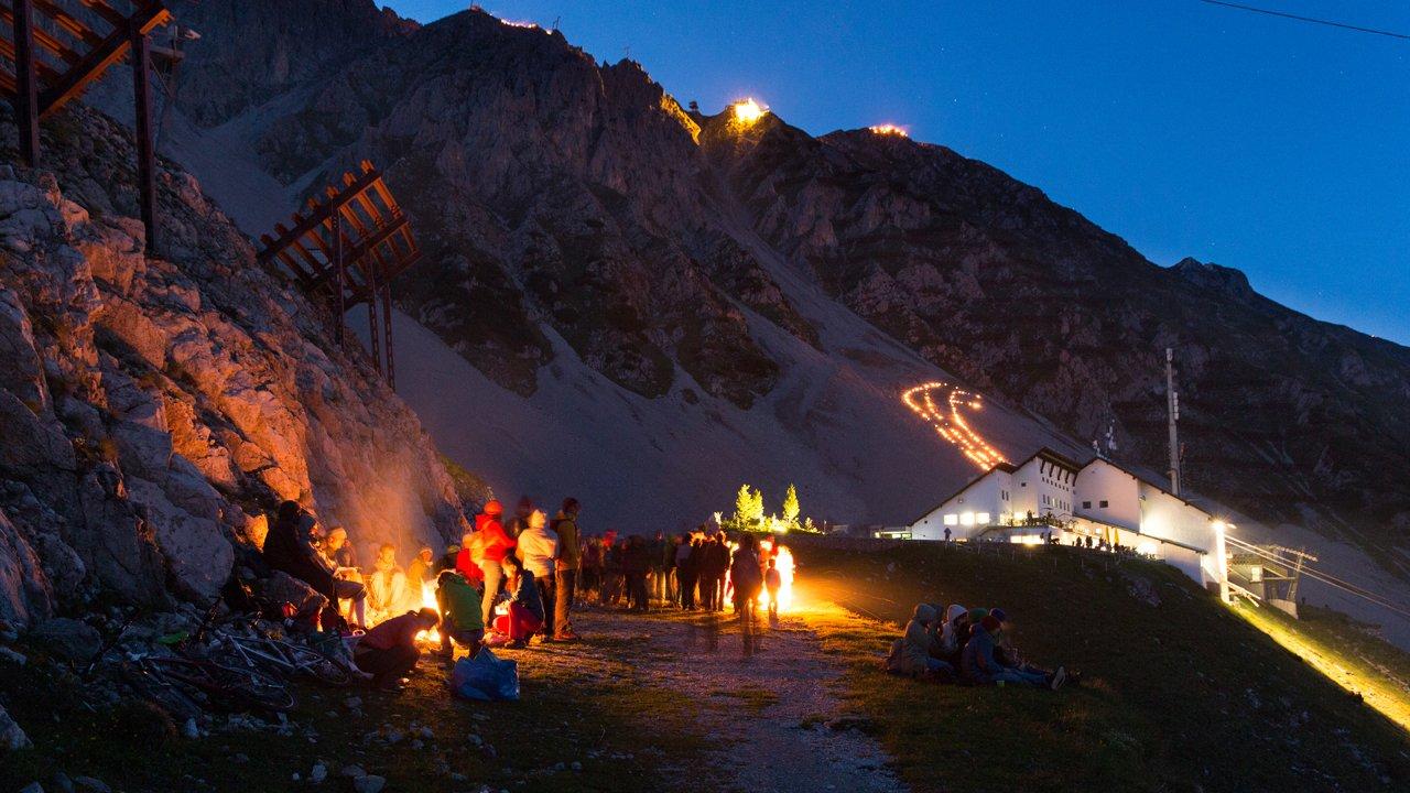 Sonnwendfeier auf der Innsbrucker Nordkette, © Innsbrucker Nordkettenbahnen