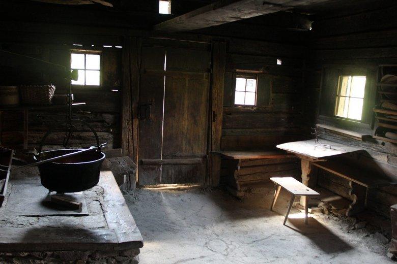 Alte Küche im Gwiggen Hof, Wildschönau, aus dem Jahre 1625