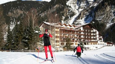 Übungsloipe Weisseespitz: optimal für den Einstieg ins Schlittenlanglaufen, © Tiroler Oberland