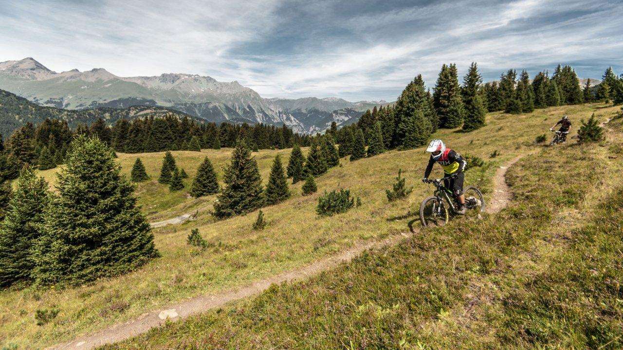 Enduro-Biken in Nauders, © Nauders Tourismus/Andreas Vigl