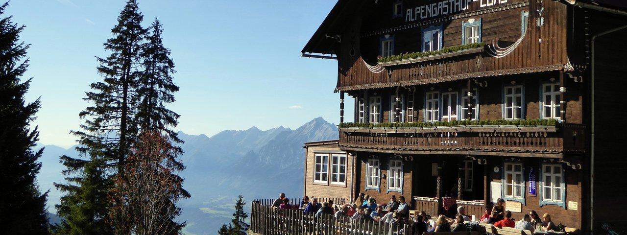 Sonnenterrasse auf der Loas, © Tirol Werbung