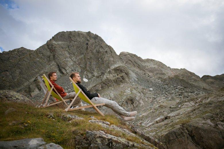 Oesterreich Austria, Tirol Tyrol, Pitztal / Oetztal, Erlanger Huette; Berghuette; alpine chalet cottage, mountain hut; +++ Rechteklaerung moeglich +++ 08/2016