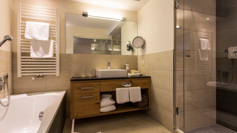 Badezimmer im Hotel Fliana in Ischgl, © Hotel Fliana