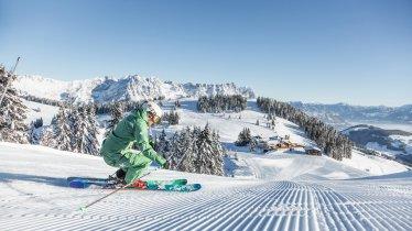 Skifahrerin in der SkiWelt Wilder Kaiser Brixental, © Mirja Geh