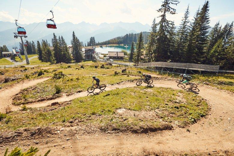 Der Alpkopftrail ist für Mountainbike-Einsteiger geeignet. Foto: Serfaus-Fiss-Ladis Marketing GmbH | christianwaldegger.com