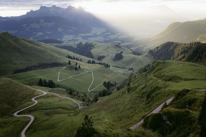 Morgenstimmung am Weg zur Hornköpflhütte am Kitzbüheler Horn