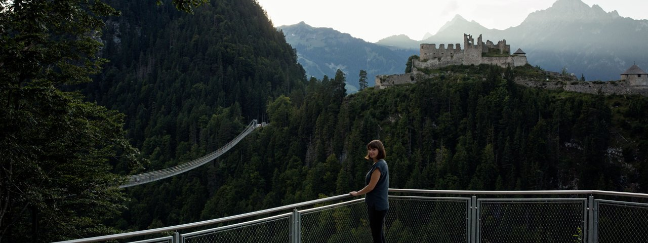 Festung Ehrenberg und die Highline 179 bei Reutte, © Tirol Werbung / Lisa Hörterer
