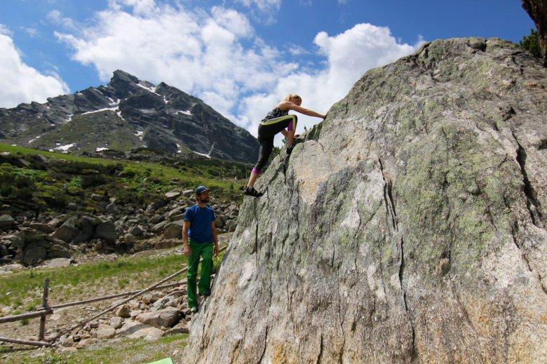 Bouldern im Silvapark Galtür. , © TVB Paznaun-Ischgl