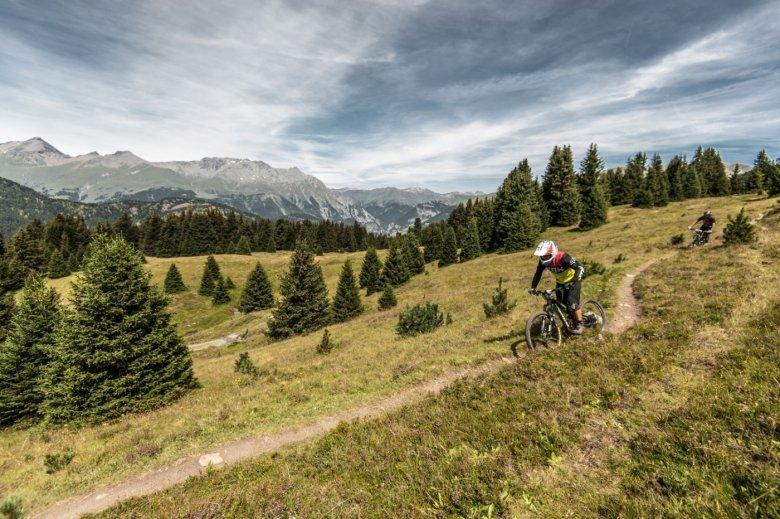 Das gibt's nur hier: Grenzenlose Trails im Dreiländereck zwischen Österreich, Schweiz und Italien. (Foto: Andreas Vigl)