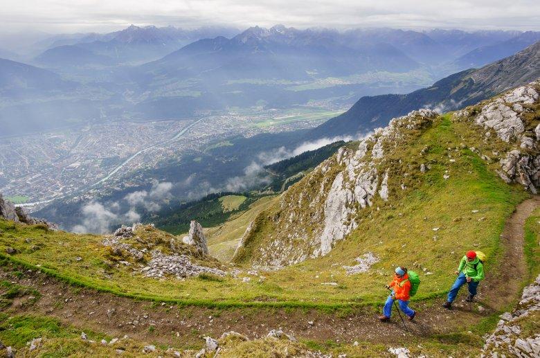 Auf dem Goetheweg hoch über Innsbruck.