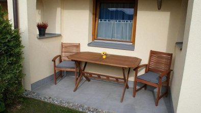 Garten Sitzecke des Apartments