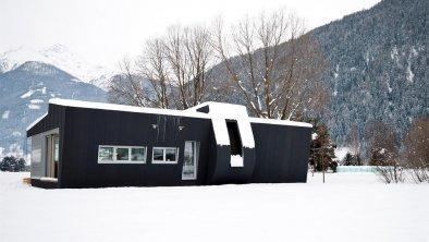 Modulhaus außen Winter 2