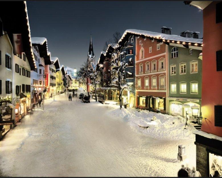Die Altstadt von Kitzbühel mit Häusern aus dem 15. und 16. Jahrhundert.