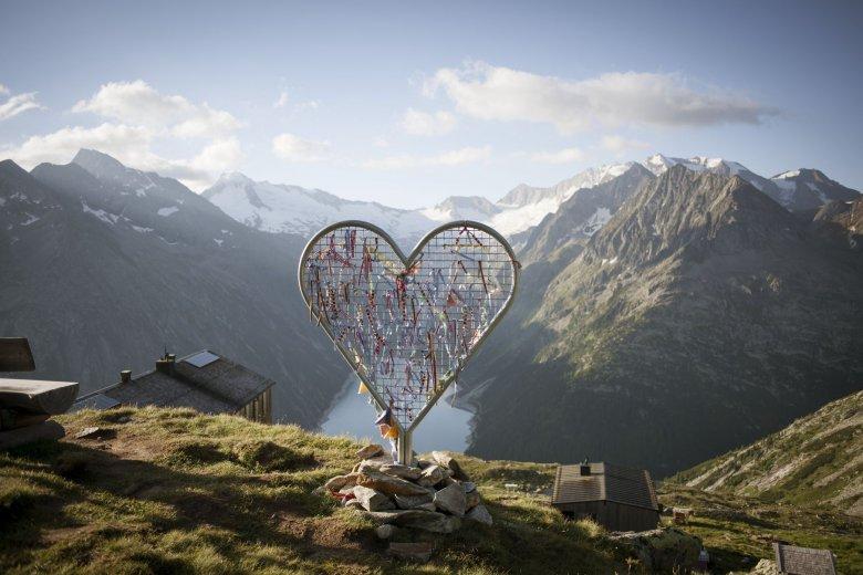Ausblick von der Olpererhütte im Zillertal