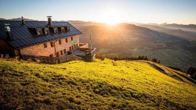 Alpenrosenhütte Sonnenuntergang