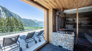 Alpenkräutersauna mit Ausblick