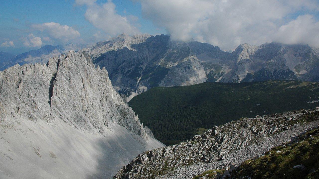 Blick vom Hafelekar ins Karwendel, © Naturpark Karwendel