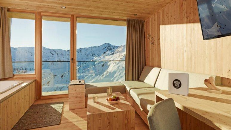 Zimmer in der Kristallhütte, © Kristallhütte