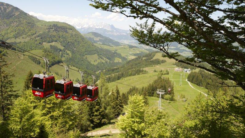 Gondelbahn Lärchfilzkogel, © Bergbahnen Fieberbrunn