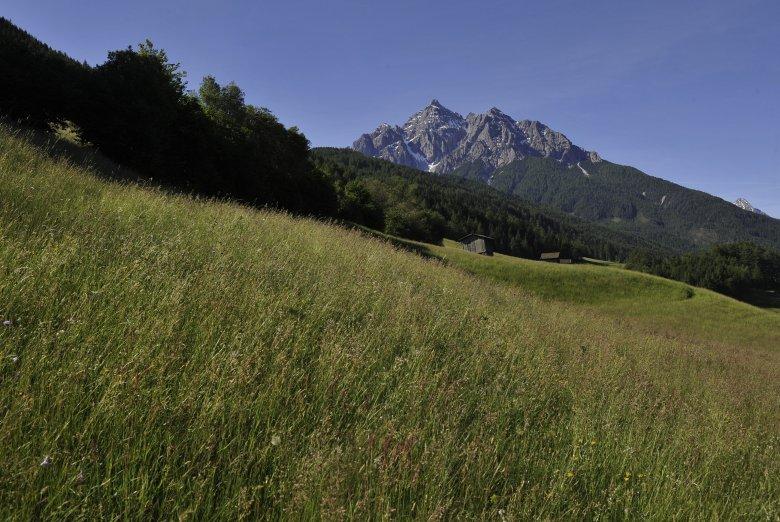 Ein Berg oder der Riesenkönig Serles mit seinem Gefolge? Foto: Tirol Werbung/Bernhard Aichner