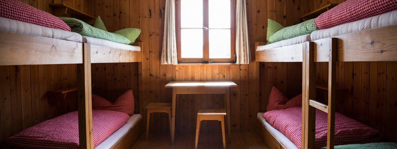 Bettenlager in der Steinseehütte, © Tirol Werbung/Dominik Gigler