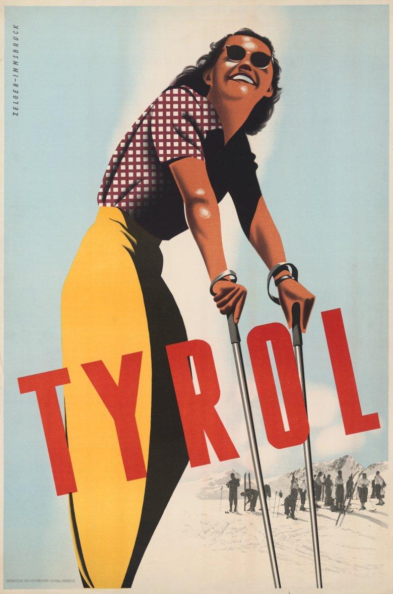 Arthur Zelger, Tyrol, 1949, Plakat 61x91,7cm, Tirol Werbung