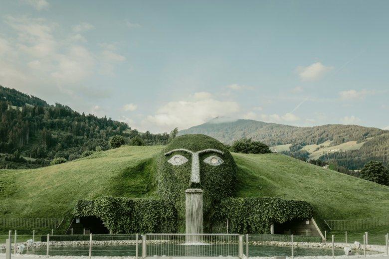 Der berühmte Kopf des Riesen. , © Swarovski Kristallwelten