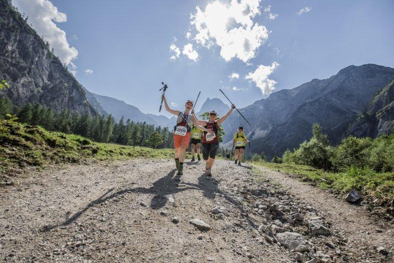 Beim Karwendelmarsch werden entweder 52 oder 35 Kilometer in alpinem Gelände zurückgelegt. Foto: Achensee Tourismus
