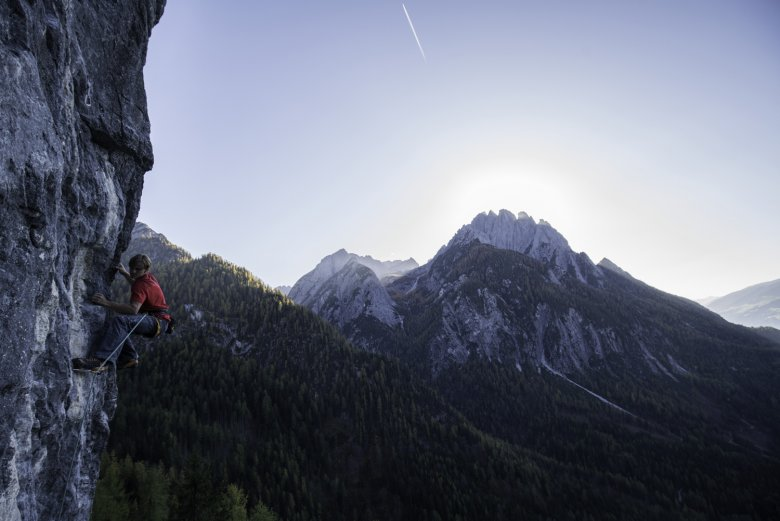 Klettern im Osttirol. Foto: Tirol Werbung / Mair Johannes