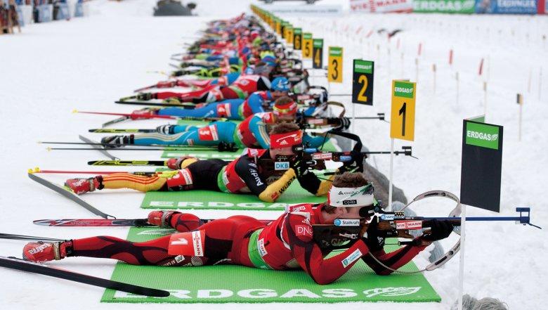 Da ist Herzklopfen garantiert: bei der Biathlon-WM in Hochfilzen. © TVB PillerseeTal