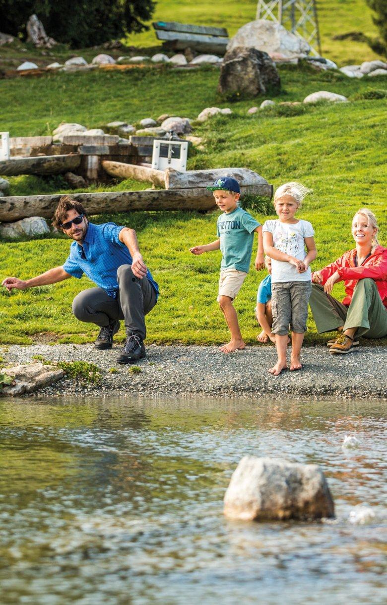 Die Bergwelt bietet kühle Höhenluft und Spaß für die ganze Familie.