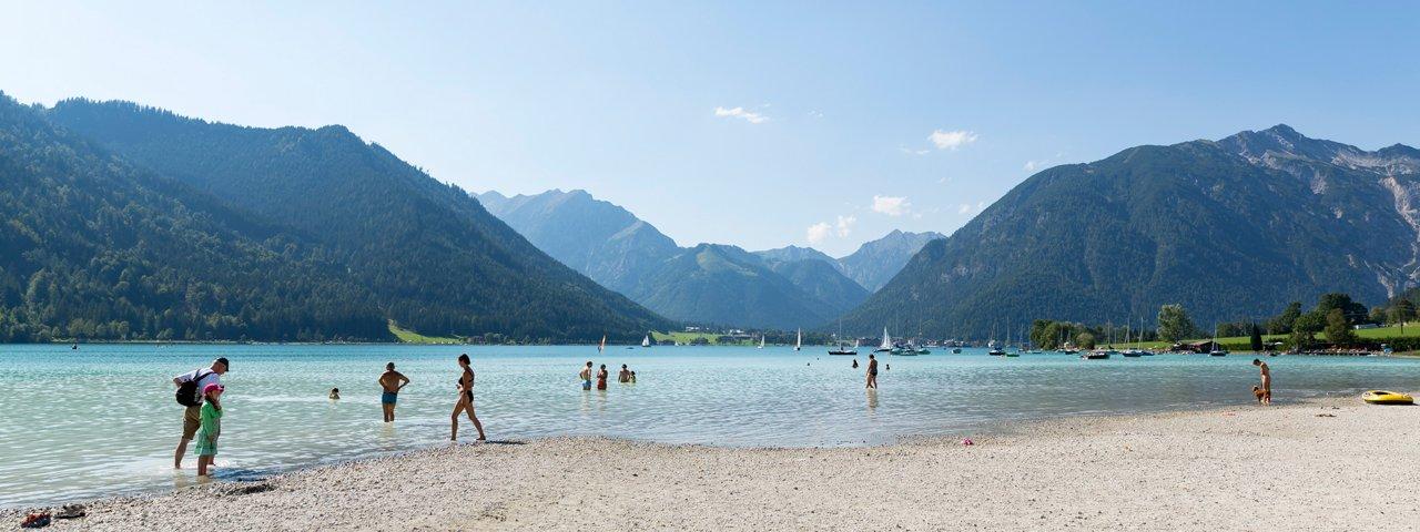 Badestrand Maurach-Buchau, © Tirol Werbung/W9 Studios