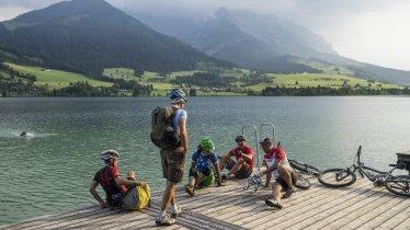 Drei-Kaiser-Rundtour: Streckenabschnitt am Walchsee, © Tirol Werbung/Peter Neusser