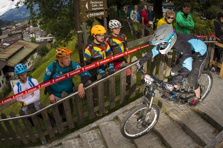 In Kirchberg fand die erste Europameisterschaft für Enduro-Mountainibiker statt. , © Tom Bause